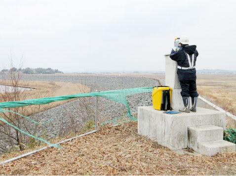長沼ダム堤体変位観測業務委託